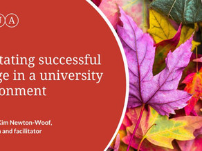 Facilitating successful change in a university environment