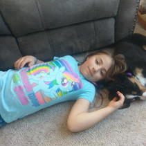 Moxie and Daughter Napping