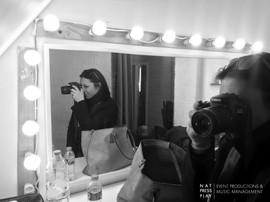 Nat Photoshoot backstage, London