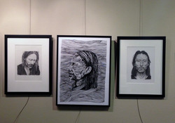 Ink and graphite drawings
