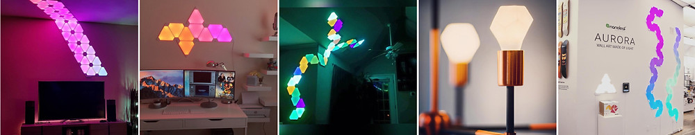 Aurora nanoleaf in home and office