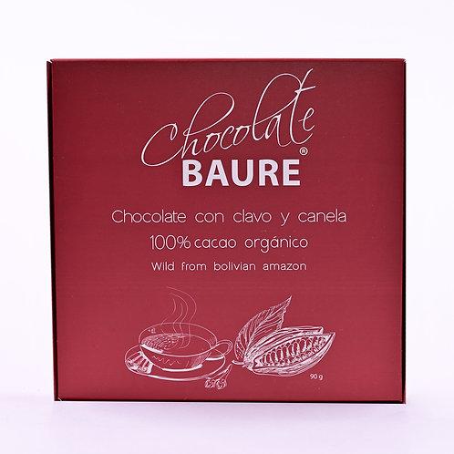 CHOCOLATE 100% CON CLAVO Y CANELA