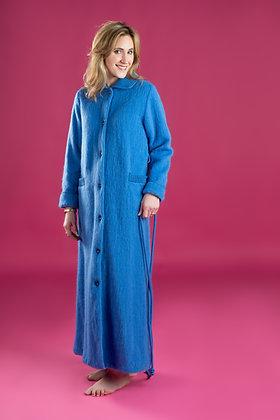 Robe de chambre boutonnée col tricot