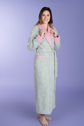 Robe de chambre contrastée