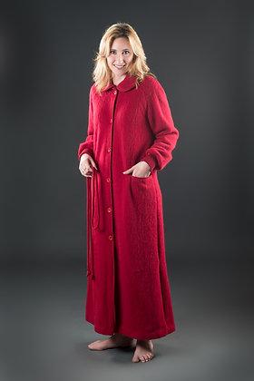 Robe de chambre boutonnée col Claudine