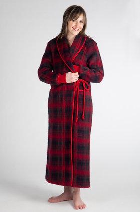 Robe de chambre poignets en tricot