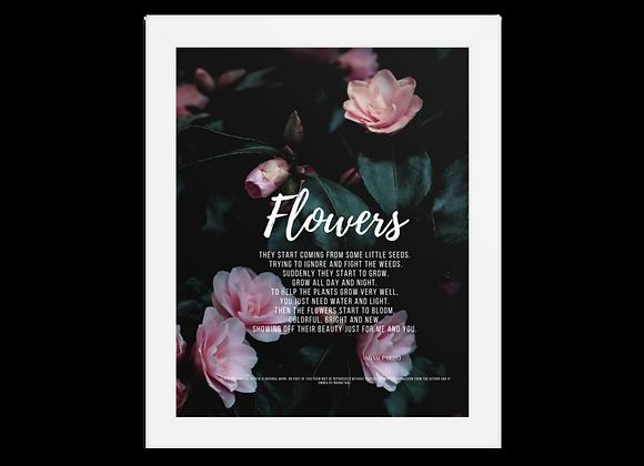 """""""Flowers"""" Framed Poster"""