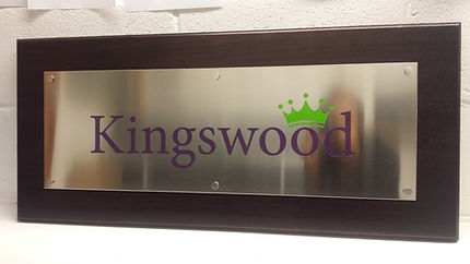 Brushed Stainless Steel Signs