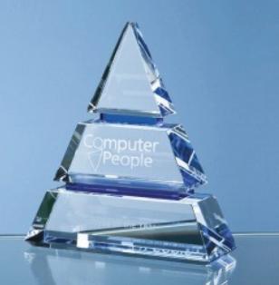 22.5cm Optical Crystal Luxor Award