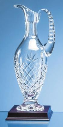 36cm Lead Crystal Panelled Claret Jug