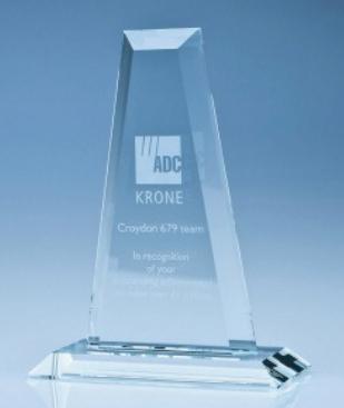 33cm CrystalEdge Clear Tower Award
