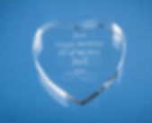Engraved Glass heart