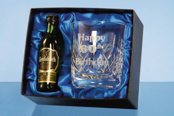Blenheim Whiskey Tumbler Gift Set with a 5cl.....
