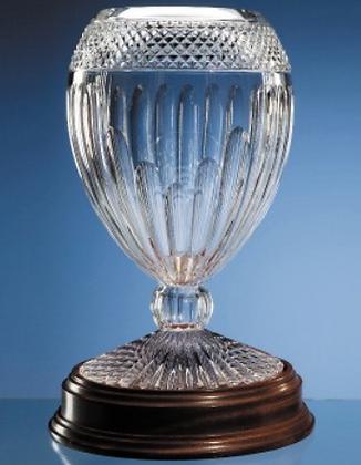 35cm Mario Cioni Lead Crystal Orphos Vases