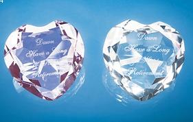 Engraved Glass heart