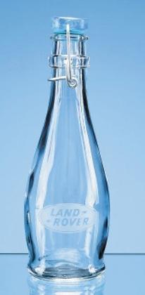 0.355Ltr Blue Cap Swing Top Bottle
