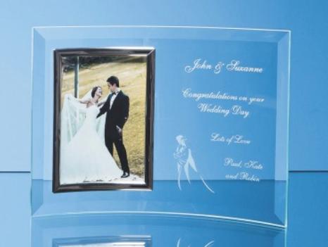 "Bevelled Glass Crescent Frame for 5"" x 7"" Portrait"