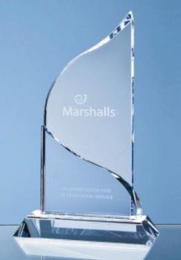 22cm Optical Crystal Grand Bleu Awards