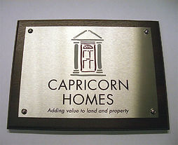 Bespoke engraved signs