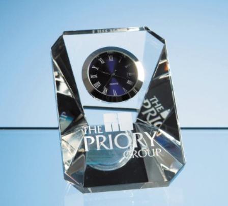 7cm Optical Crystal Wedge Clock