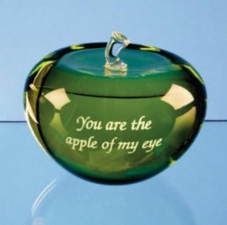 7.5cm Optical Crystal Green Apple