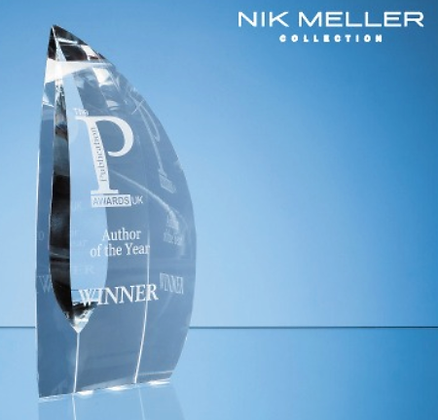 25.5cm Nik Meller Design Clear Optical Crystal....