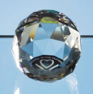 5cm Coloured Optical Crystal Facet Ball