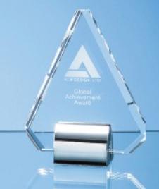 21.5cm Optical Crystal Diamond Mounted on a Chrome