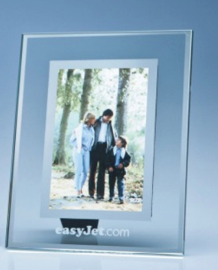 "Clear Glass Frame with Mirror Inlay for 4: x 6""..."