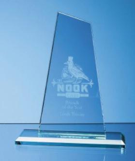 25cm x 12cm Jade Glass Mountain Award