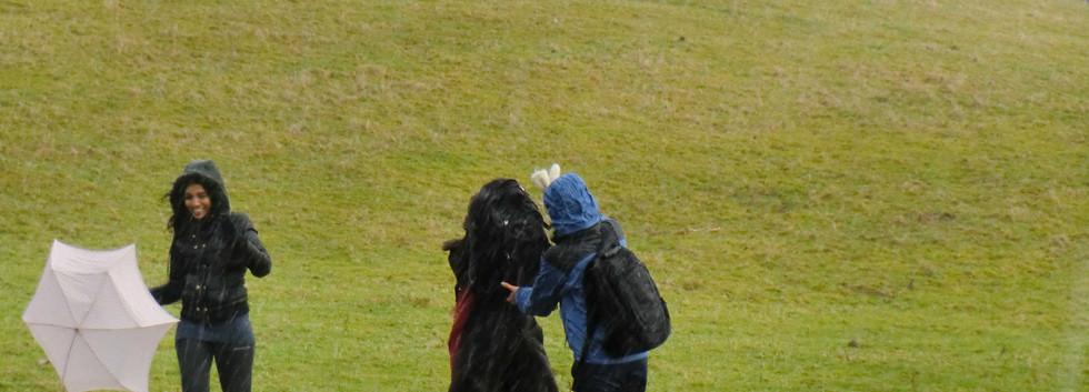 Escaping rain