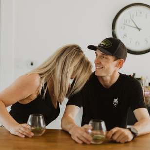 A Cozy In-Home Engagement Session | Kirsti & Chris | Cambridge, Ontario