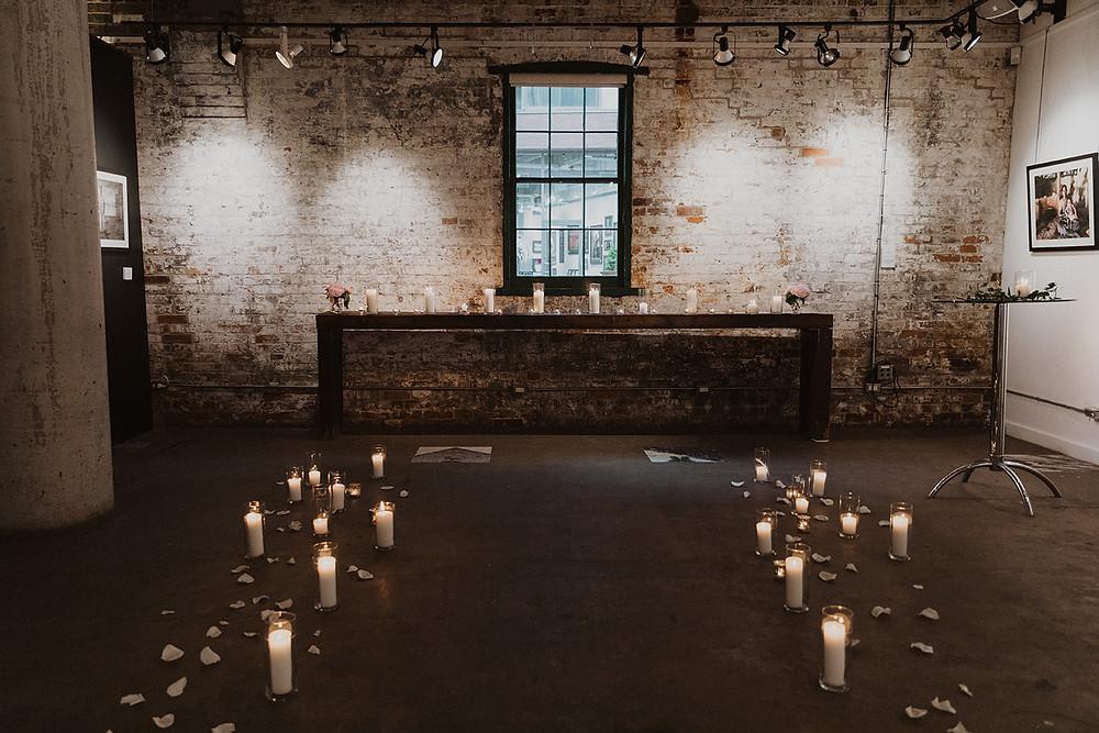 Romantic Elopement Distillery District Toronto