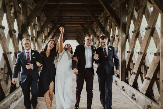 Bridal Party for Intimate Guelph Wedding