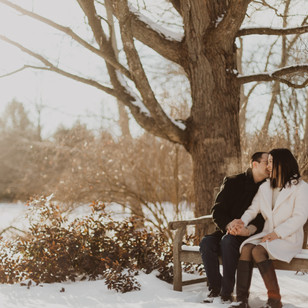 Winter Engagement Session at the Arboretum, Guelph ON | Xiao Wen & Alan