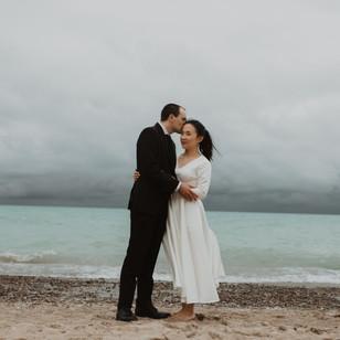 A Beautiful Backyard Wedding in Grand Bend, Ontario | Xiao Wen & Alan