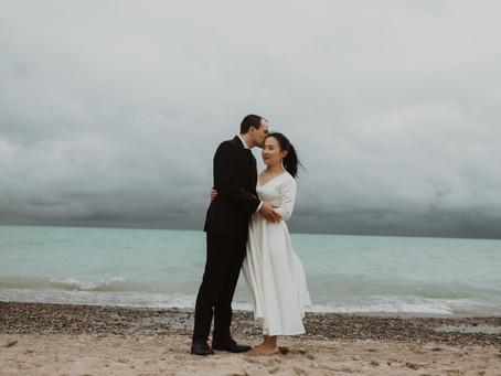 A Beautiful Backyard Wedding in Grand Bend, Ontario   Xiao Wen & Alan