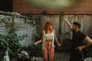 Funky In-Home Couples Session in Downtown Toronto