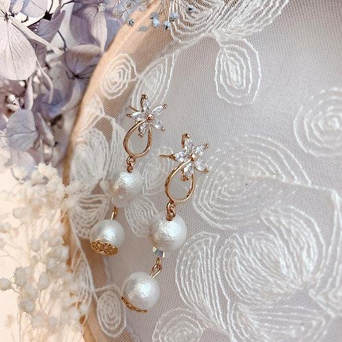 Natari Closet 自家設計花鑽珍珠耳飾