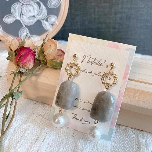 Natari Closet 自家設計天然石配珍珠耳飾