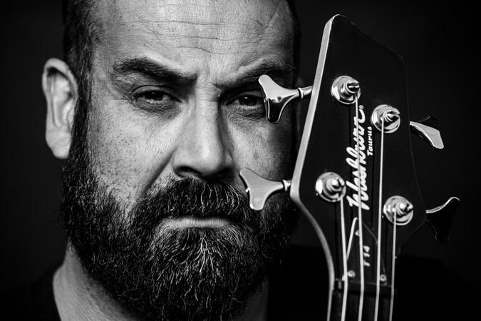 Guitarist Close up portrait