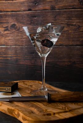 Blackberry Vodka Martini & Shards
