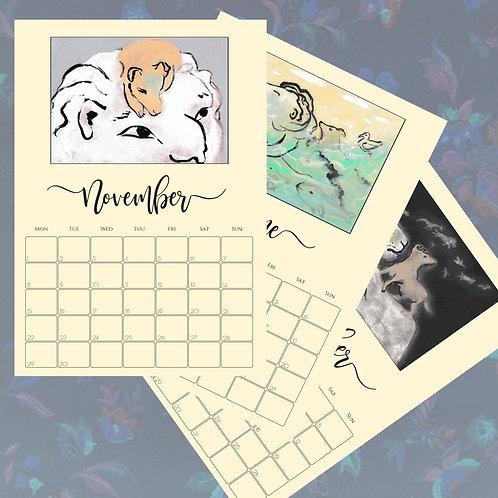 2021 Calendar: Jimmy & The Dreaming Lion