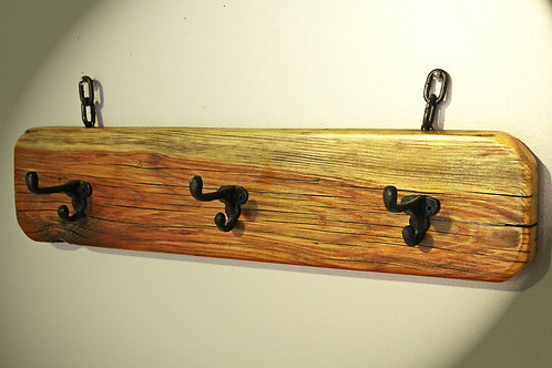 The Clearwater Mountain Rustic 3 Hook Coat Rack