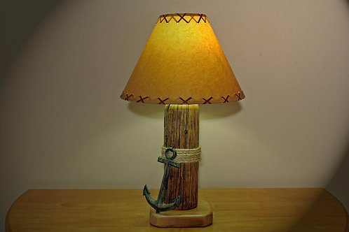 Table Lamp w/Wrought Iron Anchor and Shade