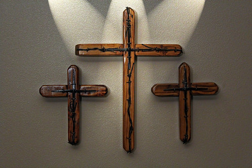 Clearwater River Rustic Cross Set (Includes 3 FREE Christian based note cards)