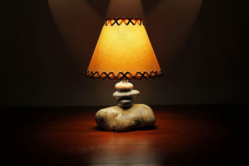 Clearwater Small Stone Lamp w/Shade