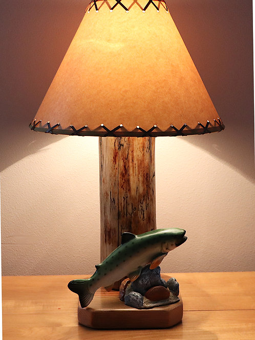 "The Rainbow Lake Table Lamp w/14"" Parchment Shade"