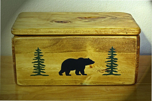A Bear In The Woods Handmade Storage Box