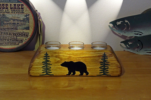 Bear In The Woods Votive Candle Holder